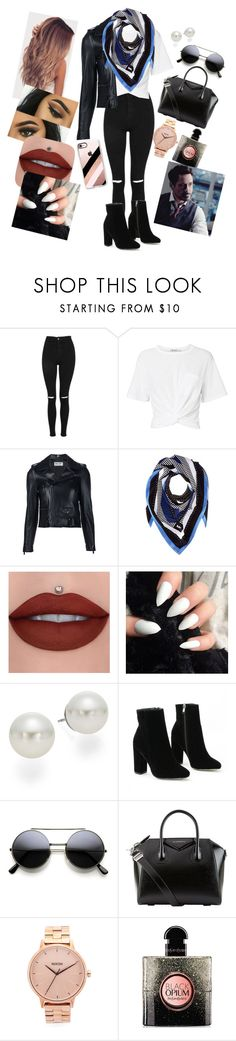 """Avenguers Stark Jr has arrived!!!!!!!"" by annaconley on Polyvore featuring Topshop, T By Alexander Wang, Yves Saint Laurent, MICHAEL Michael Kors, AK Anne Klein, Givenchy, Nixon and Casetify"
