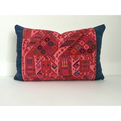 Guatemalan Indigo Pillow Cover Vintage Ethnic Handwoven Hand Loomed... (115 CAD) ❤ liked on Polyvore featuring home, home decor, throw pillows, decorative pillows, grey, home & living, home décor, lumbar pillow insert, indigo home decor and lumbar throw pillow