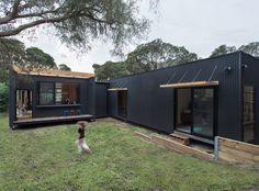 A small, modular home in Victoria, Australia. Designed by ArchiBlox.