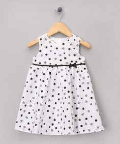 Take a look at this White & Black Floral A-Line Dress - Infant by Matilda's Wardrobe on #zulily today!