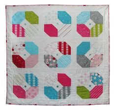 SOLD. Sept. 2017 Sew Stitchy fabric made into the cutest quilt!
