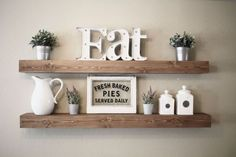 9 Wise Clever Hacks: How To Build Floating Shelves Wall Colors floating shelf decor ceilings.Floating Shelves Styling Fireplaces floating shelves next to tv how to build.Floating Shelves With Pictures Basements. Modern Farmhouse Kitchens, Farmhouse Kitchen Decor, Home Decor Kitchen, Home Kitchens, Diy Home Decor, Kitchen Ideas, Rustic Farmhouse, Farmhouse Style, Country Kitchen