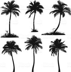 Silhouette di palma illustrazione royalty-free