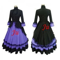 Custom-made Purple Cotton Victorian Dress Ball Gown Gothic Punk Dress Alternative Measures Cosplay Dress, Cosplay Outfits, Costume Dress, Cosplay Costumes, Dress Outfits, Victorian Dress Costume, Gothic Dress, Renaissance Clothing, Steampunk Clothing