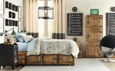 industrial bedroom design - Cerca con Google