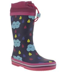 Clarks Multi Tarri Pip Girls Junior Its raining, its pouring, the cute clouds are snoring and arent they adorable? The Clarks Tarri Pip arrives in an F width fit, featuring a colourful man-made upper with an adjustable toggle closure an http://www.MightGet.com/january-2017-13/clarks-multi-tarri-pip-girls-junior.asp