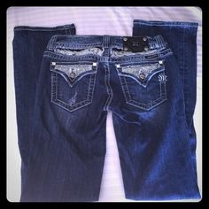 Super Sexy Miss Me Jeans Love these Super Sexy Miss Me Jeans!!!  Like new. Worn twice. Perfect condition. Boot cut. Miss Me Jeans Boot Cut