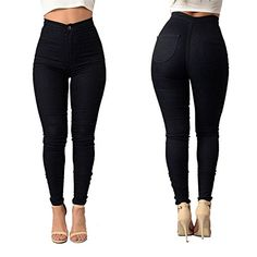 New Trending Pants: Womens High Waist Denim Jeans Pencil Stretch Skinny Leggings Casual Workout Pants Black XXX-Large. Women's High Waist Denim Jeans Pencil Stretch Skinny Leggings Casual Workout Pants Black XXX-Large   Special Offer: $16.99      133 Reviews Highly Stretchable,Sexy Slim,Soft materials are thing yet durable for everyday wear,try to it,It is cool and Fashionable To Wear Such a...