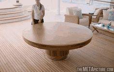 Mesa circular, extensible