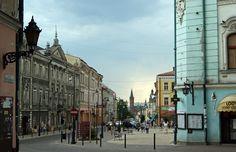 Tarnow, ul Krakowska .===>  I ♥ TARNOW Old Town, Old World, Poland, Places To Visit, Around The Worlds, Street View, City, Buildings, Romantic