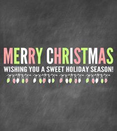 Merry Christmas Candy Bar Wrapper CHRISTMAS Print