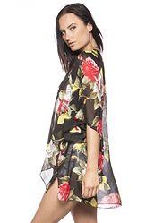 Rose Floral Kimono Cardigan $38