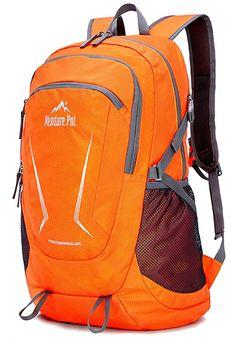 Amazon.com: Venture Pal Large 45L Hiking Backpack - Packable Lightweight Travel Backpack Daypack for Women Men (Orange): Gateway Orange Backpacks, Cool Backpacks, Lightweight Travel Backpack, Osprey Packs, Blue Camo, Camping Essentials, Hiking Backpack, North Face Backpack, Fit Women