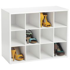 our stackable 12 pair shoe organizer is constructed from sturdy particleboard with a durable white paper laminate store shoes like lo - Container Store Shoe Storage