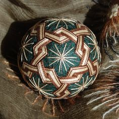 Forest Path temari ball  for him ornament by JapaneseTemari, $49.00