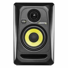 KRK Rokit RP4 G3 Active Studio Monitor Speaker (single, black with yellow cone)