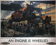 An Engine is Wheeled, Terence Cuneo