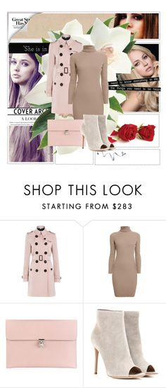 """""""Pastel"""" by maidaa12 ❤ liked on Polyvore featuring Burberry, Rumour London, Alexander McQueen, Gianvito Rossi, Friend of Mine, women's clothing, women, female, woman and misses"""