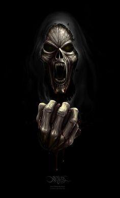 #Reaper  #Skull #Horror.       For more great pins go to @KaseyBelleFox