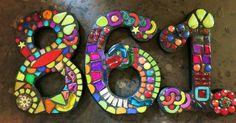Custom House Numbers Created by Tina @ Wise Crackin' Mosaics