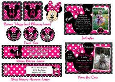Custom Pink and Black Polka Dot Minnie Mouse by SkyeCreation, $30.00