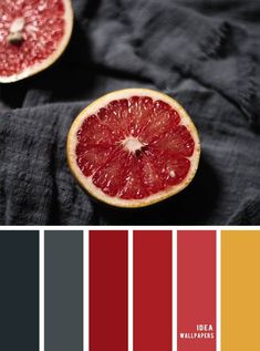 Black grey + red citrus Color Palette A pretty color palette. Use the power of color to bring your creative vision to life in your designs. I hope this color palette above will be. Black Color Palette, Red Color Schemes, Colour Pallette, Color Combos, Impression Textile, Colour Board, Deco Design, Color Swatches, Red And Grey