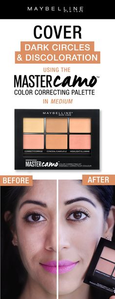 Color correcting made easy with the Maybelline Master Camo Color Correcting Palette!  Color correct dark circles and dark spots, conceal imperfections and highlight all in one easy palette!