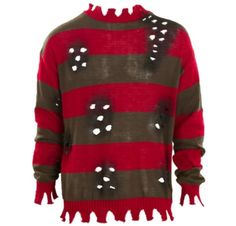 deluxe freddy krueger sweater for adults party city halloween decorationsfreddy - Freddy Krueger Halloween Decorations
