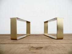 15 H x 21 W   Flat Brass Table Legs  Brass Table Legs by Balasagun Coffee Table With Stools, Coffee Tables, Brass Metal, Solid Brass, Brass Furniture Legs, Classic Living Room, Dongguan, Furniture Factory, Table Legs