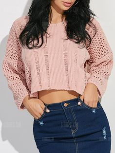 Cut Out Cropped Loose Sweater- http://www.siboom.es/whistles-grey-cropped-sweater-uk-10_ofertas.html |