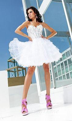Baby doll Chiffon Strapless Short Dress