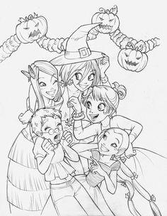 Daniela Vetro: Un altro Halloween per le W.i.t.c.h.