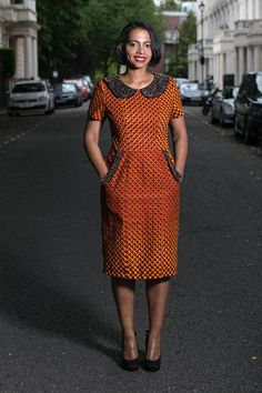Church Dress Embellished Collar Ankara Dress,Unique Handmade Dress,One of a Kind African Dress Embellished Collar Ankara DressUnique Handmade DressOne of African Print Fashion, African Fashion Dresses, Handmade Dresses, Unique Dresses, African Attire, African Dress, Shweshwe Dresses, Tunic Designs, Church Dresses