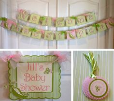 Deluxe Sweet Pea Baby Shower Party Package By ASweetCelebration, $79.50