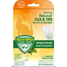 Full body repellent that effectively protects and defends against irritating fleas and ticks, for cats of all sizes. Kills & repels fleas and ticks for up to 3 months, and repels mosquitoes. Water resistant protection from fleas and ticks. Ticks On Dogs, Lemon Eucalyptus, Wild Bird Food, Flea And Tick, Insect Repellent, Medium Dogs, Active Ingredient, Fleas