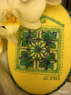 Whitework Embroidery: Two Ornaments + One Sampler