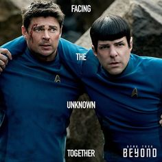 From the official Star Trek Facebook page, possibly the best moments of the film were between these two