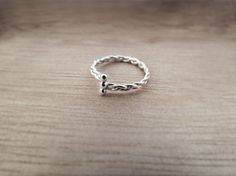 15% off Braided twist ring sterling silver ring by plOrkTaiwAn