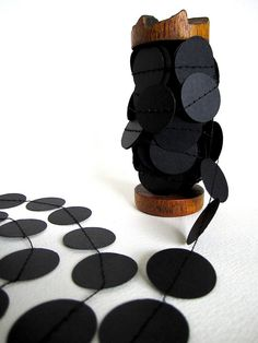 DIY black garland