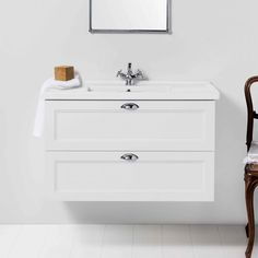 English Classic 1000 Wall-Hung Vanity 2 Drawer