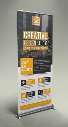 Creative Roll-Up Banner # Creativo, - Fotobuch - Pull Up Banner Design, Standing Banner Design, Pop Up Banner, Advert Design, Flyer Design, Advertising Design, Rollup Design, Standee Design, Banner Design Inspiration