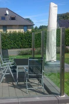 Wunderbar Glas Edelstahl Sichtschutz Densa Winddicht Bis 2.000 Mm Höhe