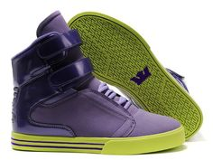 Women Supra TK Society Violet Green Shoes