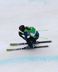DAY 15:  Katya Crema of Austria competes during the Freestyle Skiing Ladies' Ski Cross http://sports.yahoo.com/olympics
