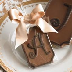 love anything monogramed; love anything chocolate. that  makes these PERFECT!!!