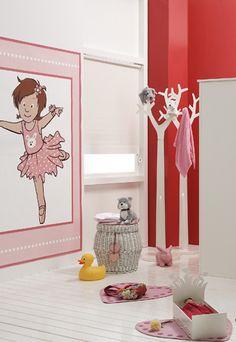 ... kinderkamer roze kinderkamer rode rode muur kleuren roze kinderkamer