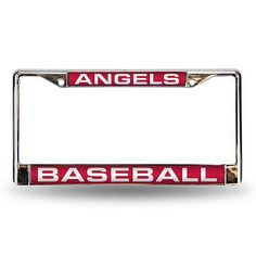 Red Chrome License Plate Frame - Los Angeles Angels == $19.95