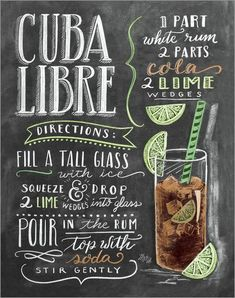 [Infour+] New Cuba Libre Cocktail Metal Signs Home Decor Vintage Tin Signs Pub Home Decorative Plates Metal Sign Wall Plaques - - Cocktails, Party Drinks, Cocktail Drinks, Special Recipes, Cuba Libre Cocktail, Cuba Libre Drink, Sumo Natural, Havana Nights Party, Lily And Val