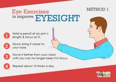 Pencil focus eye exercises to improve eyesight
