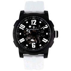 Christian Van Sant Men's Black/ Skeleton Watch